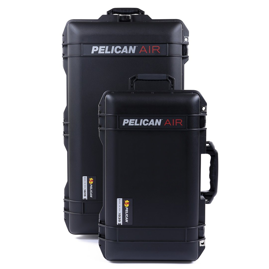 Pelican 1535 & 1615 Air Cases Bundle, Black - Pelican Color Case