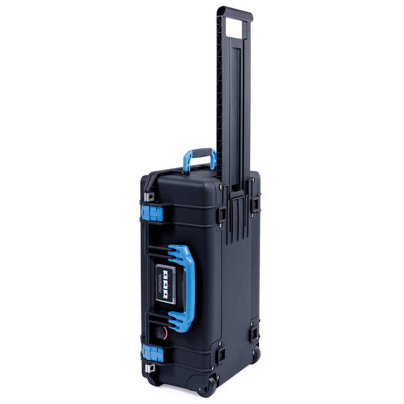 Pelican 1535 Air Case, Black with Blue Handles & Latches - Pelican Color Case