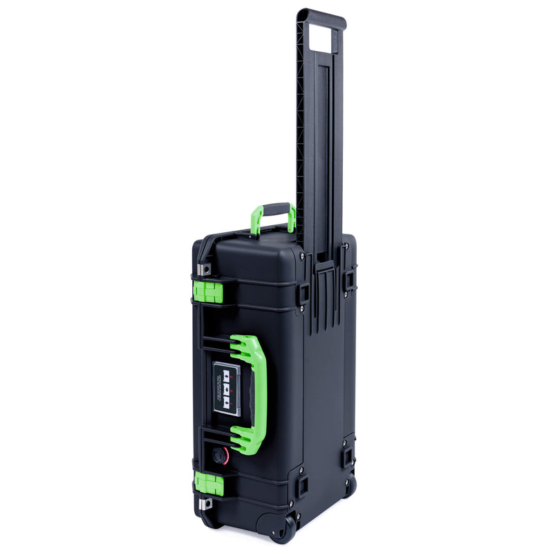 Pelican 1535 Air Case, Black with Lime Green Handles & Latches - Pelican Color Case