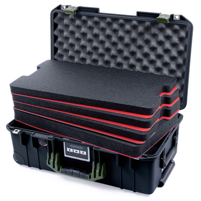 Pelican 1535 Air Case, Black with OD Green Handles & Latches - Pelican Color Case