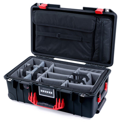 Pelican 1535 Air Case, Black with Red Handles & Latches