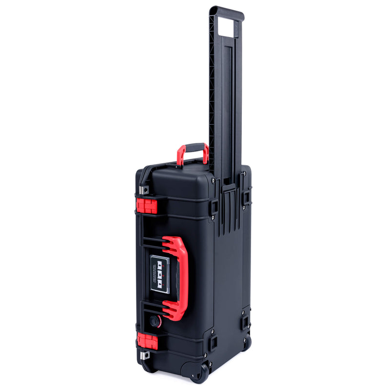 Pelican 1535 Air Case, Black with Red Handles & Latches - Pelican Color Case