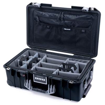 Pelican 1535 Air Case, Black with Silver Handles & Latches - Pelican Color Case