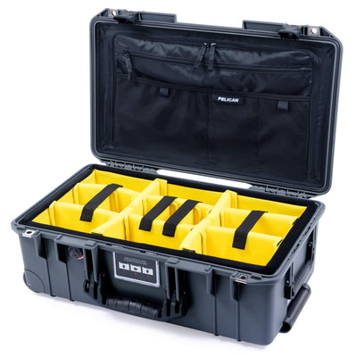 Pelican 1535 Air Case, Charcoal with Black Handles & Latches - Pelican Color Case