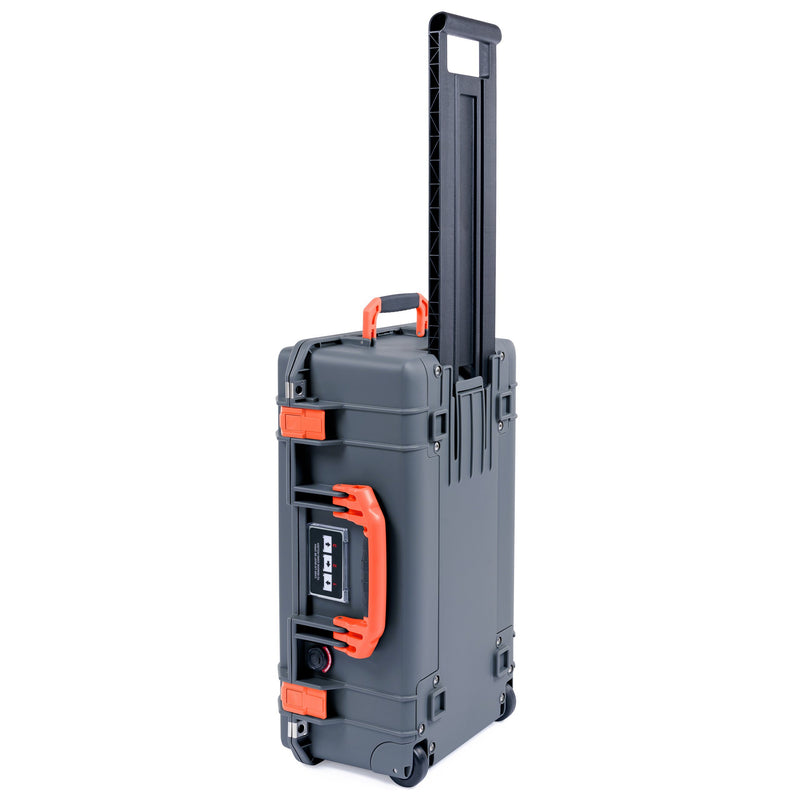 Pelican 1535 Air Case, Charcoal with Orange Handles & Latches