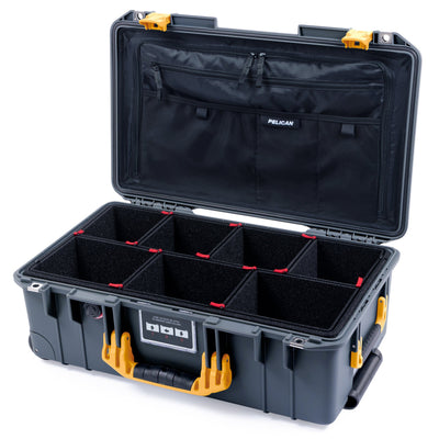 Pelican 1535 Air Case, Charcoal with Yellow Handles & Latches - Pelican Color Case