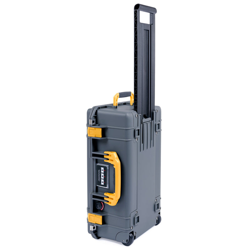 Pelican 1535 Air Case, Charcoal with Yellow Handles & Latches