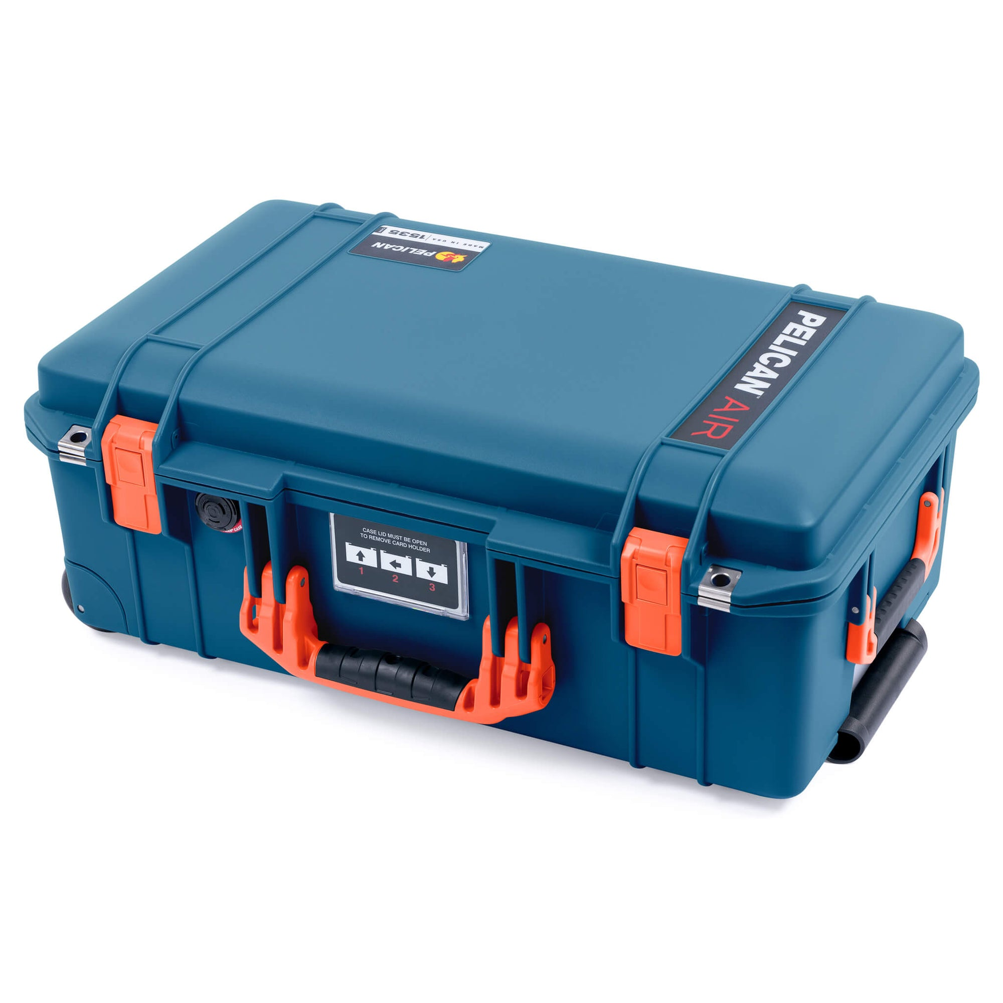 Pelican 1535 Air Case, Indigo with Orange Handles & Latches - Pelican Color Case
