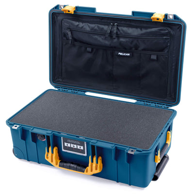 Pelican 1535 Air Case, Indigo with Yellow Handles & Latches - Pelican Color Case