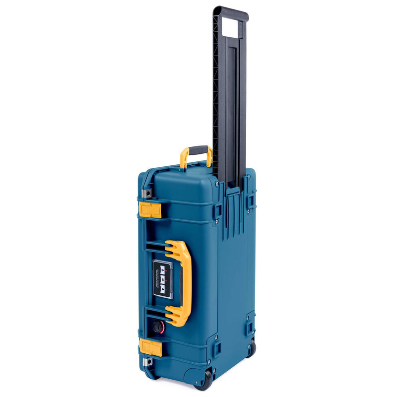 Pelican 1535 Air Case, Indigo with Yellow Handles & Latches