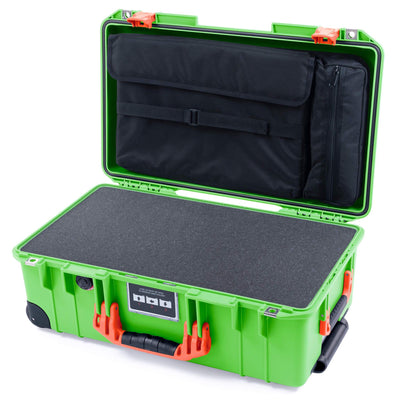 Pelican 1535 Air Case, Lime Green with Orange Handles & Latches - Pelican Color Case