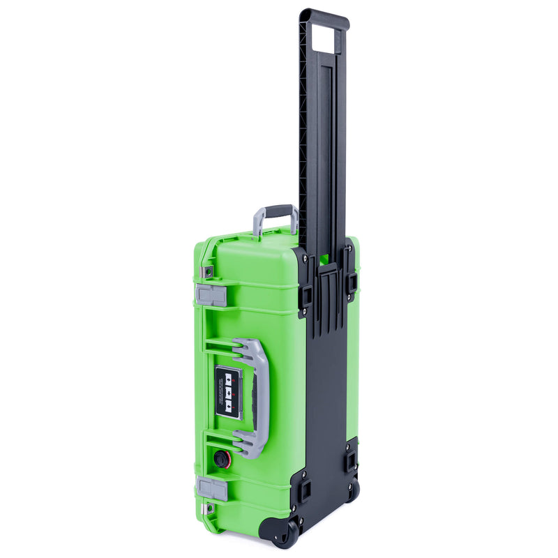 Pelican 1535 Air Case, Lime Green with Silver Handles & Latches