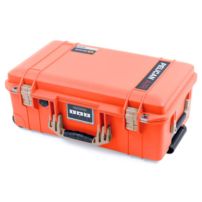 Pelican 1535 Air Case, Orange with Desert Tan Handles & Latches - Pelican Color Case