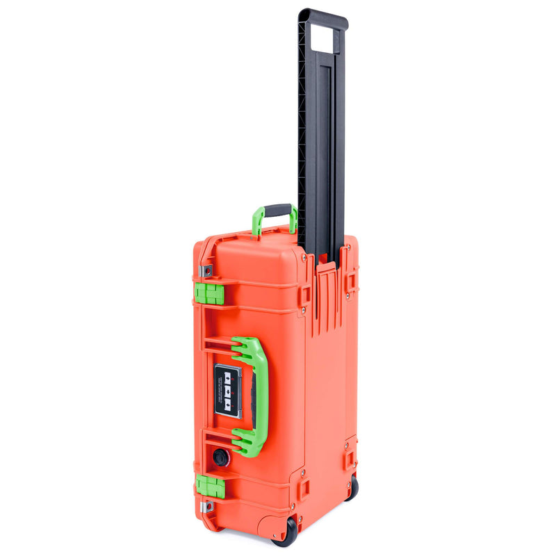 Pelican 1535 Air Case, Orange with Lime Green Handles & Latches