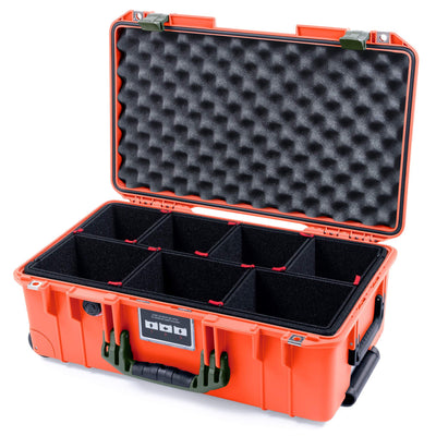 Pelican 1535 Air Case, Orange with OD Green Handles & Latches - Pelican Color Case