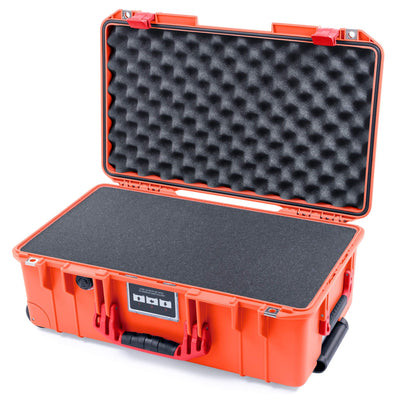 Pelican 1535 Air Case, Orange with Red Handles & Latches - Pelican Color Case