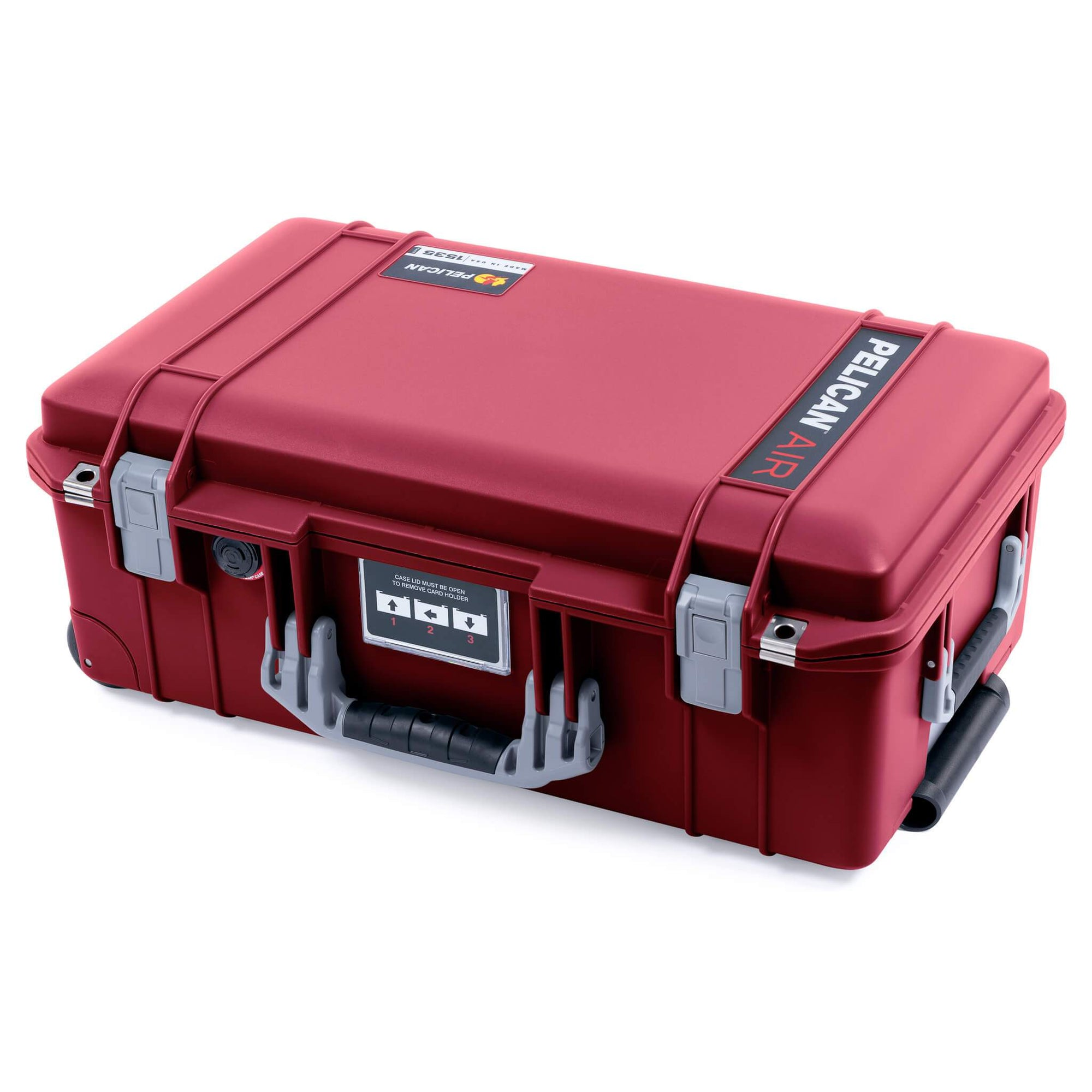 Pelican 1535 Air Case, Oxblood with Silver Handles & Latches