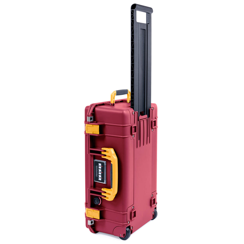 Pelican 1535 Air Case, Oxblood with Yellow Handles & Latches - Pelican Color Case