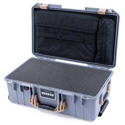 Pelican 1535 Air Case, Silver with Desert Tan Handles & Latches - Pelican Color Case
