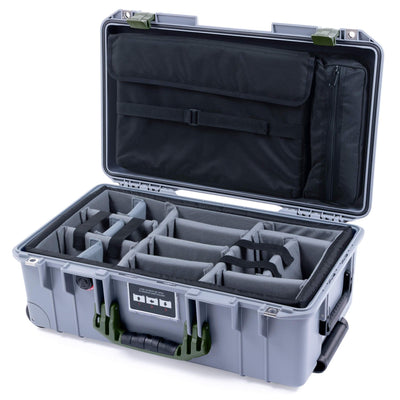 Pelican 1535 Air Case, Silver with OD Green Handles & Latches - Pelican Color Case