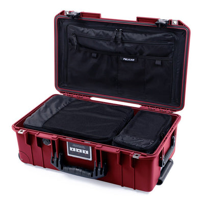 Pelican 1535TRVL Air Travel Case with Locking TSA Latches, Oxblood - Pelican Color Case