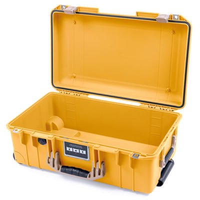 Pelican 1535 Air Case, Yellow with Desert Tan Handles & Latches - Pelican Color Case