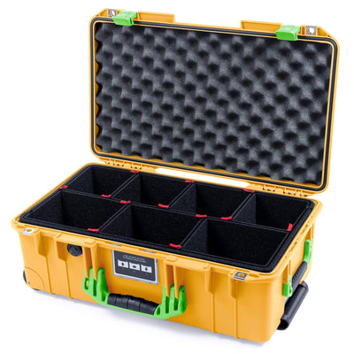 Pelican 1535 Air Case, Yellow with Lime Green Handles & Latches - Pelican Color Case