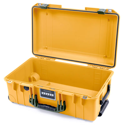 Pelican 1535 Air Case, Yellow with OD Green Handles & Latches - Pelican Color Case