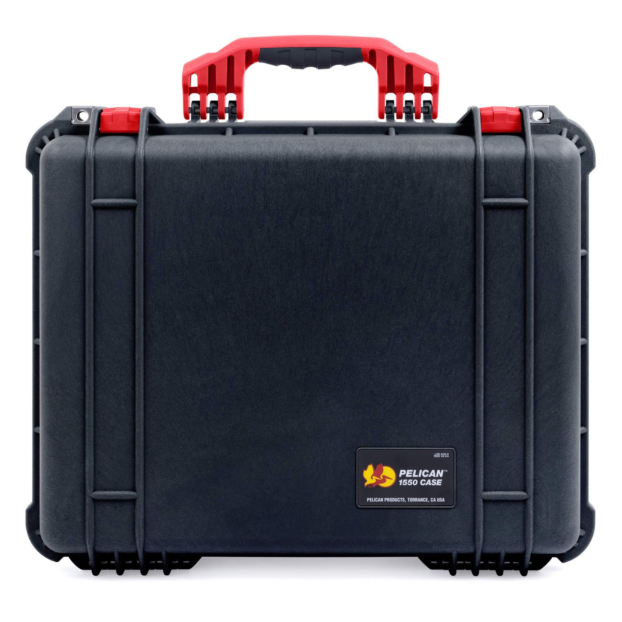 Pelican 1550 Case, Black with Red Handle & Latches