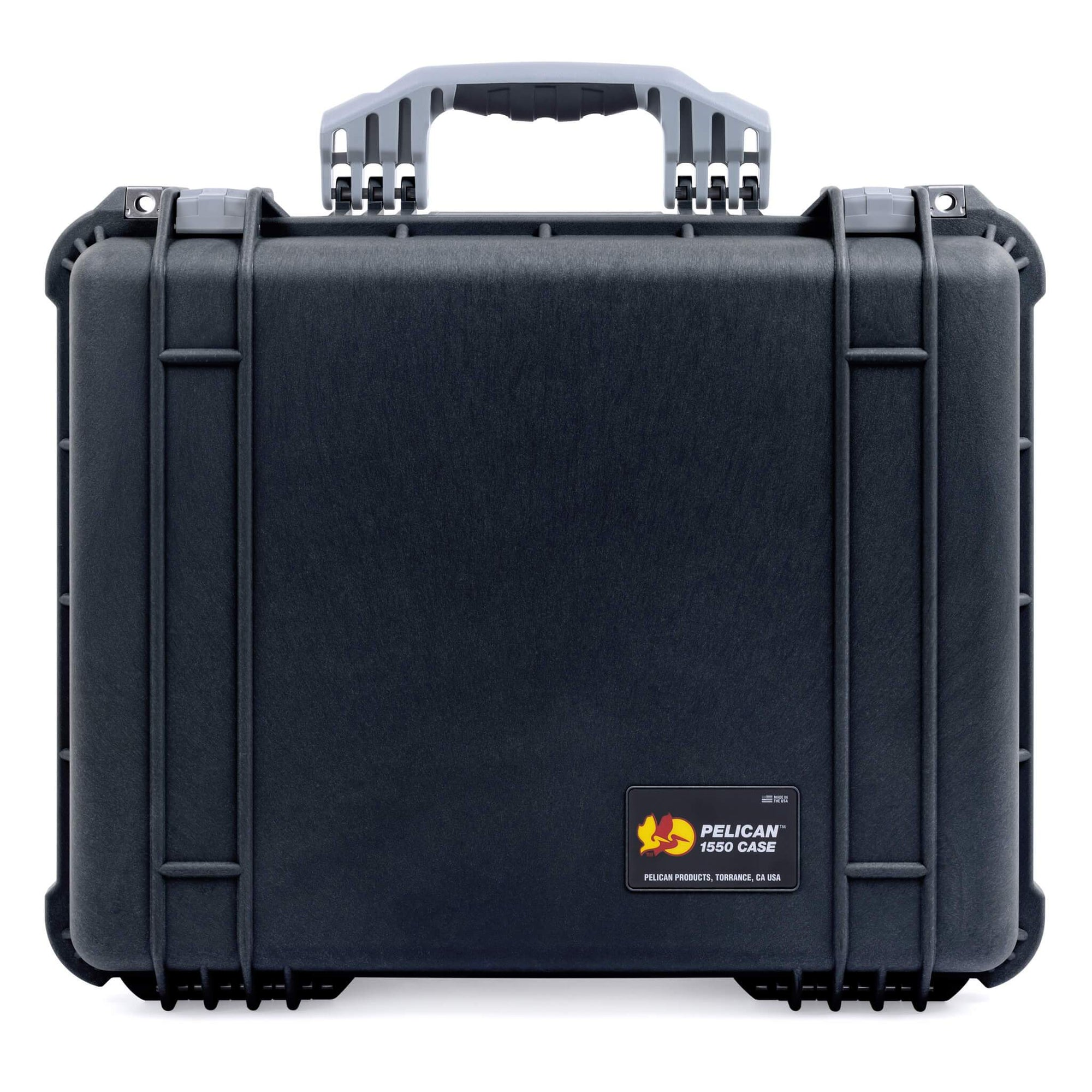 Pelican 1550 Case, Black with Silver Handle & Latches