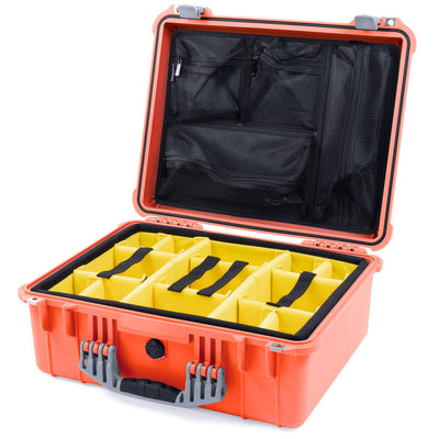 Pelican 1550 Case, Orange with Silver Handle & Latches