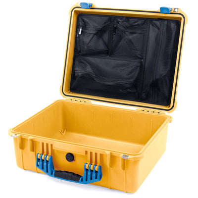 Pelican 1550 Case, Yellow with Blue Handle & Latches