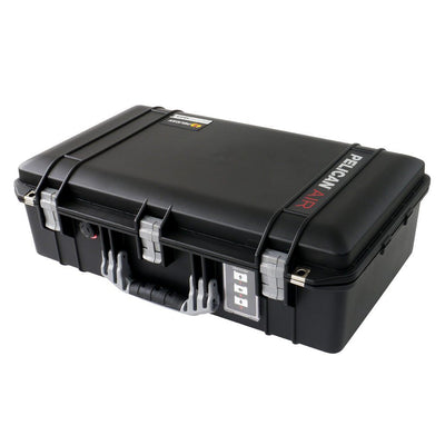 Pelican 1555 Air Colors Series, Black Air Case with Silver Gray Handles & Latches, Customizable Accessory Bundles - Pelican Color Case