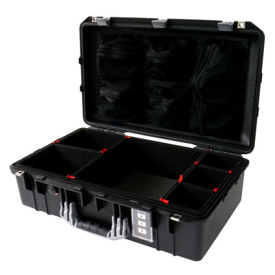 Pelican 1555 Air Case, Black with Silver Handle & Latches - Pelican Color Case