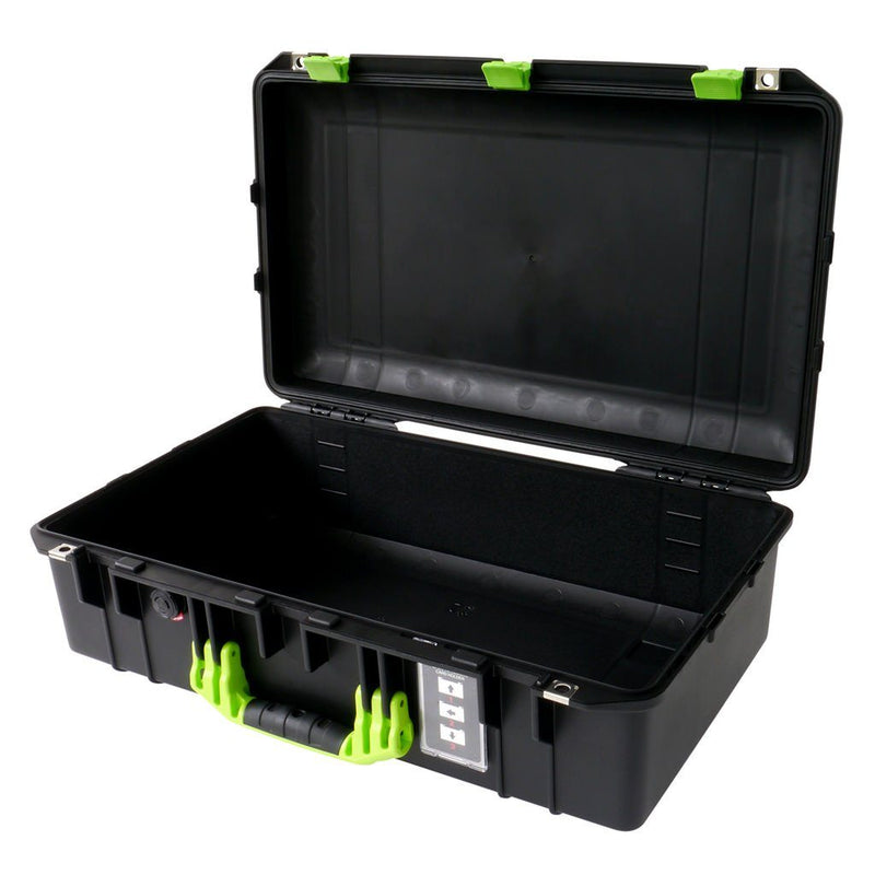 Pelican 1555 Air Case, Black with Lime Green Handle & Latches - Pelican Color Case