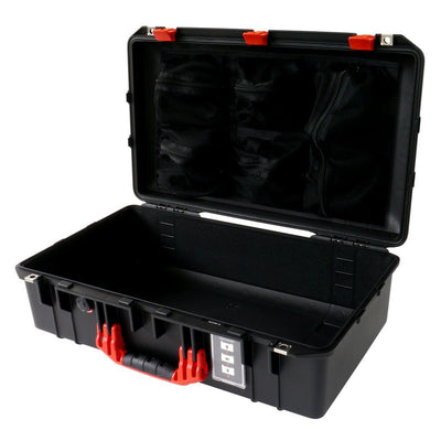 Pelican 1555 Air Colors Series, Black Air Case with Red Handles & Latches, Customizable Accessory Bundles - Pelican Color Case