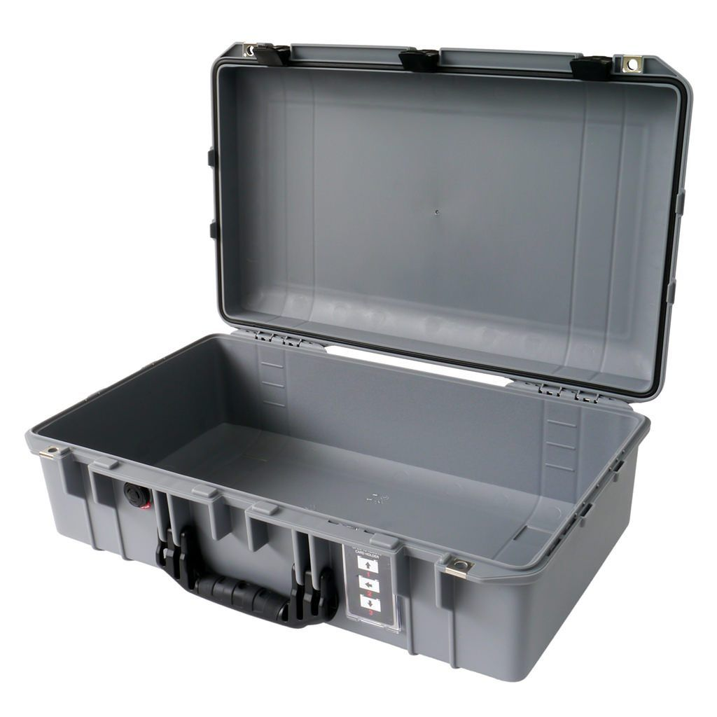 Silver with Black Pelican 1555 Air case With Foam.