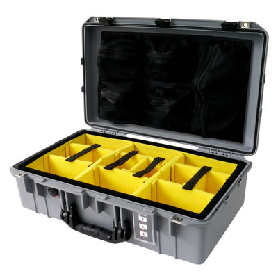 Pelican 1555 Air Case, Silver with Black Handle & Latches - Pelican Color Case