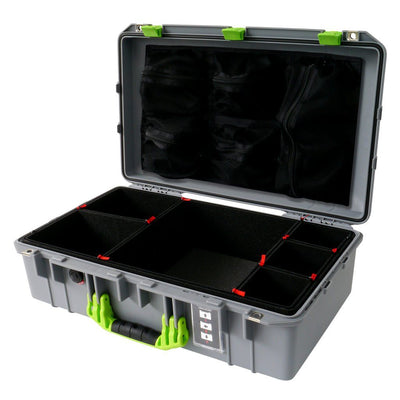 Pelican 1555 Air Colors Series, Silver Gray Air Case with Lime Green Handles & Latches, Customizable Accessory Bundles - Pelican Color Case
