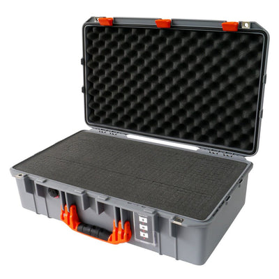 Pelican 1555 Air Case, Silver with Orange Handle & Latches - Pelican Color Case