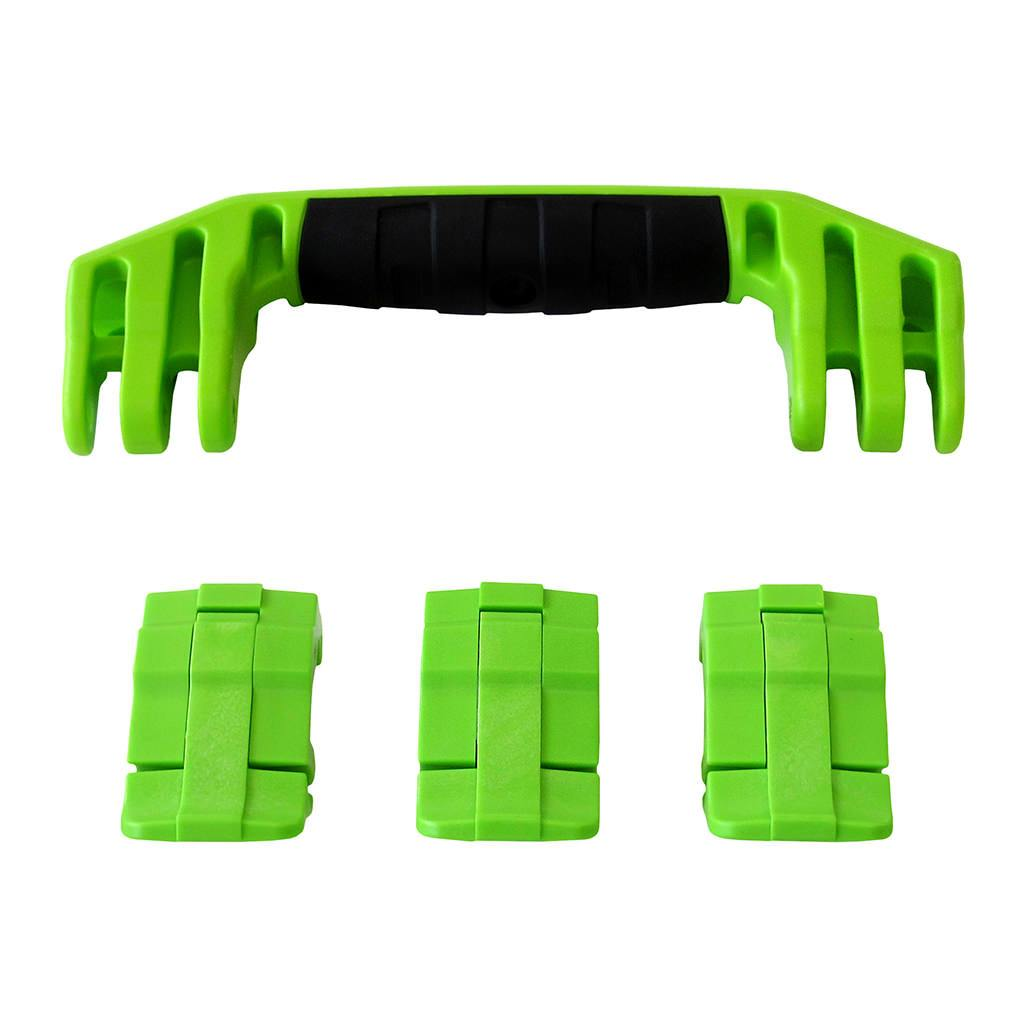 Lime Green Replacement Handle & Latches for Pelican 1555 Air, One Lime Green Handle, 3 Lime Green Latches - Pelican Color Case