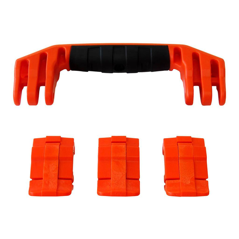 Orange Replacement Handle & Latches for Pelican 1555 Air, One Orange Handle, 3 Orange Latches - Pelican Color Case