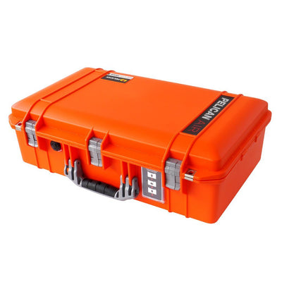 Pelican 1555 Air Colors Series, Orange Air Case with Silver Gray Handles & Latches, Customizable Accessory Bundles - Pelican Color Case