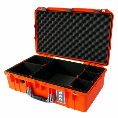 Pelican 1555 Air Case, Orange with Silver Handle & Latches - Pelican Color Case