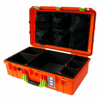 Pelican 1555 Air Case, Orange with Lime Green Handle & Latches - Pelican Color Case