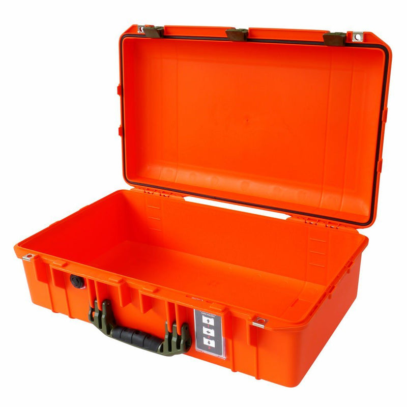 Pelican 1555 Air Colors Series, Orange Air Case with OD Green Handles & Latches, Customizable Accessory Bundles