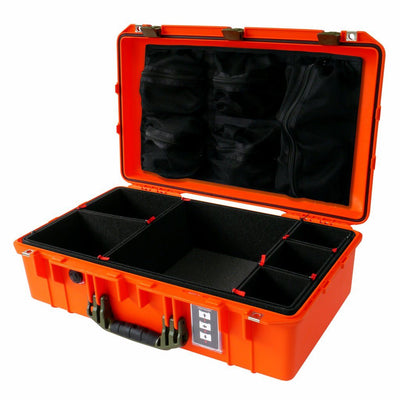Pelican 1555 Air Case, Orange with OD Green Handle & Latches - Pelican Color Case