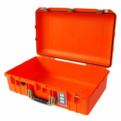 Pelican 1555 Air Case, Orange with Desert Tan Handle & Latches - Pelican Color Case