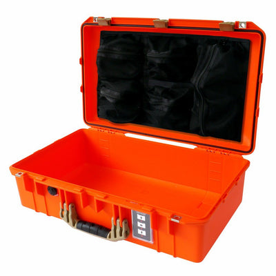 Pelican 1555 AIR COLORS Series, Orange Outdoors Protector Case with Desert Tan Handles & Latches, Customizable Accessory Bundles