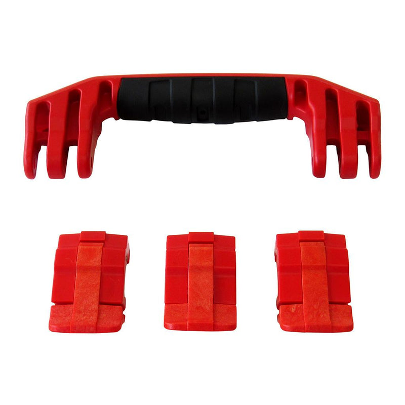 Red Replacement Handle & Latches for Pelican 1555 Air, One Red Handle, 3 Red Latches - Pelican Color Case